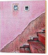 Pink Wall  Wood Print