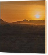 Piestewa Peak Sunset Wood Print