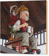 Pinocchio And Geppetto  Wood Print