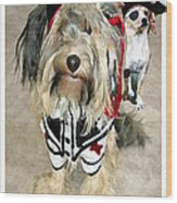 Pirate Dogs Wood Print