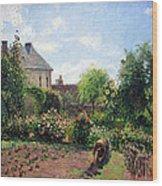 Pissarro's The Artist's Garden At Eragny Wood Print by Cora Wandel