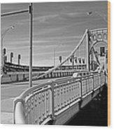 Pittsburgh - Roberto Clemente Bridge Wood Print by Frank Romeo