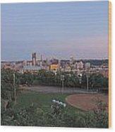 Pittsburgh Skyline At Dusk Wood Print