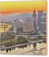 Pittsburgh Sunrise Panorama Wood Print
