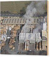 Piveteau Saw Mill, Sainte Florence Wood Print