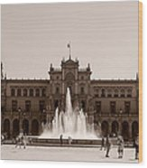 Plaza De Espana Wood Print