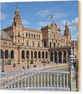 Plaza De Espana In Seville Wood Print