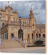 Plaza De Espana Pavilion In Seville Wood Print