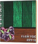 Plum Farm Wood Print