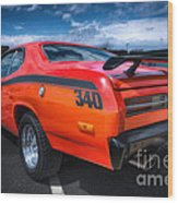 Plymouth Duster 340 Wood Print
