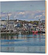 Plymouth Harbor Wood Print