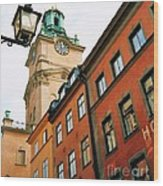 1 Pm In Stockholm Wood Print