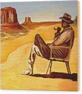 Poet In The Desert Wood Print by Joseph Malham