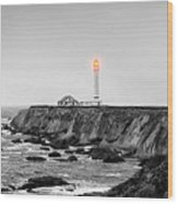 Point Arena Lighthouse Wood Print