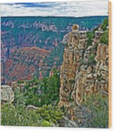 Point Imperial At 8803 Feet On North Rim Of Grand Canyon National Park-arizona   Wood Print