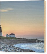 Point Judith Lighthouse Wood Print