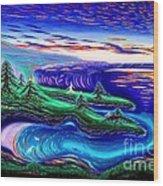 Point Lobos California China Cove Wood Print