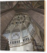 pointed vault of Saint Barbara church Wood Print