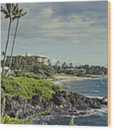 Polo Beach Wailea Point Maui Hawaii Wood Print
