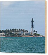 Pompano And The Hillsboro Inlet Lighthouse Wood Print