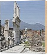 Pompeii Wood Print