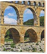 Pont Du Gard In Southern France Wood Print