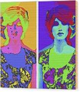 Pop Art Girl Wood Print