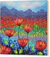 Poppy Vista Wood Print