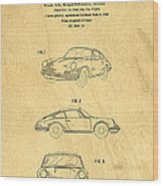 Porsche 911 Carrera 1964 Patent Art  Wood Print