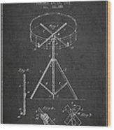 Portable Drum Patent Drawing From 1903 - Dark Wood Print by Aged Pixel