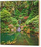 Portland Japanese Garden Wood Print