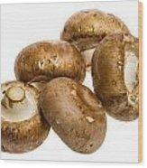 Portobello Mushrooms Wood Print