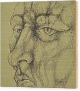 Portrait Wood Print by Moshfegh Rakhsha