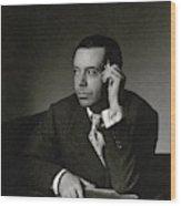 Portrait Of Cole Porter Wood Print
