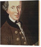 Portrait Of Emmanuel Kant Wood Print
