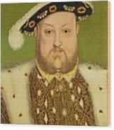 Portrait Of Henry Viii Wood Print