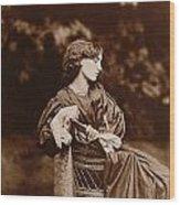 Portrait Of Jane Morris Wood Print by John Parsons