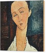 Portrait Of Lunia Czechowska Wood Print