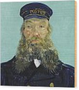 Portrait Of Postman Roulin Wood Print