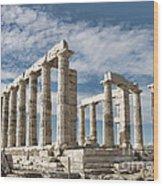 Poseidon's Temple Wood Print