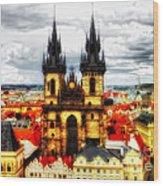 Prague Church Of Our Lady Before Tyn Wood Print