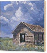 Prairie Church Wood Print by Jerry McElroy
