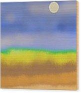 Prairie Wood Print by Lenore Senior