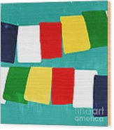 Prayer Flags Wood Print by Linda Woods
