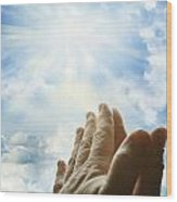 Prayer Wood Print by Les Cunliffe