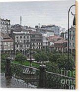 Praza Da Ferreria In Pontevedra Wood Print