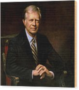 President Jimmy Carter Painting Wood Print
