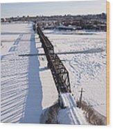 Prince Of Wales Railway Bridge, Ottawa Wood Print