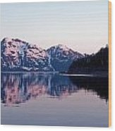Prince William Sound Reflections Wood Print