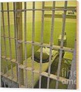 Prison Cell Alcatraz Island Wood Print
